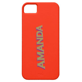 Amanda in 3D gold over tangerine tango Case For The iPhone 5