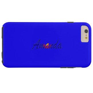 Amanda Luxury Blue iPhone case