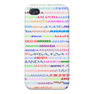 Amanda Text Design II  Covers For iPhone 4