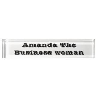 Amanda the business woman desk name plate