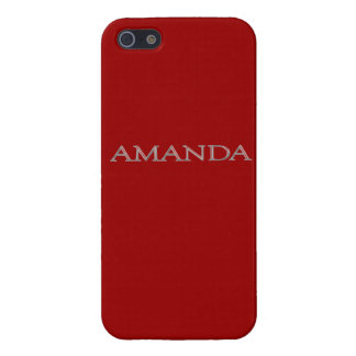 Amanda's Custom Name iPhone 5 Case