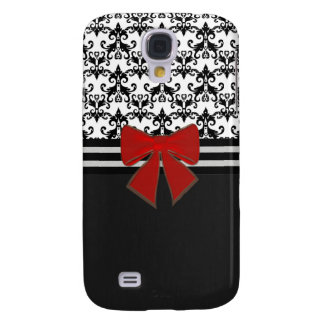 Amanda's Damask B/W Samsung Galaxy S4 Cases