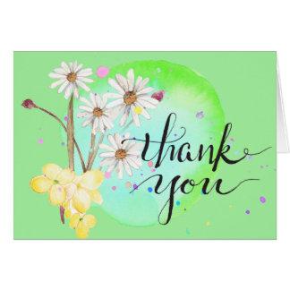 Amanda's Flower Splatter Thanks Card