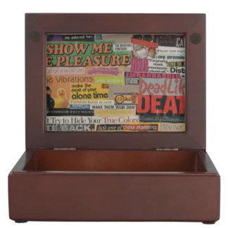 Amanda's magazine and cardboard picture collage #8 keepsake box