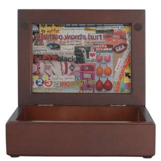 Amanda's magazine & cardboard picture collage #13 memory box