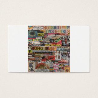 Amanda's magazine & cardboard picture collage #19 business card