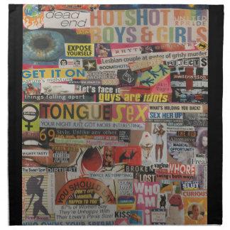 Amanda's magazine & cardboard picture collage #19 napkin