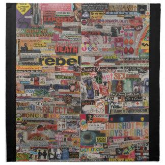 Amanda's magazine & cardboard picture collage #22 napkin