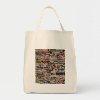 Amanda's word collage craft paper cardboard #24 tote bag