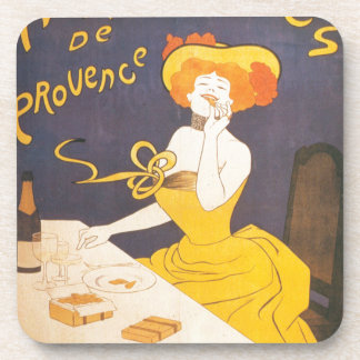 Amandines de Provence French vintage illustration Coasters