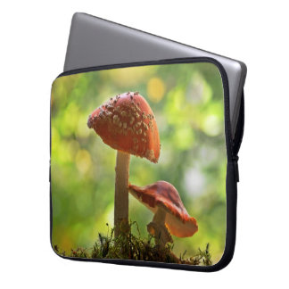 Amanita muscaria laptop sleeve