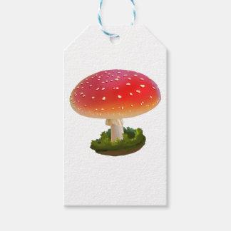 Amanita Red Mushroom Art White Dots Gift Tags
