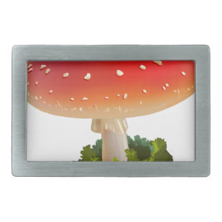 Amanita Red Mushroom Art White Dots Rectangular Belt Buckle