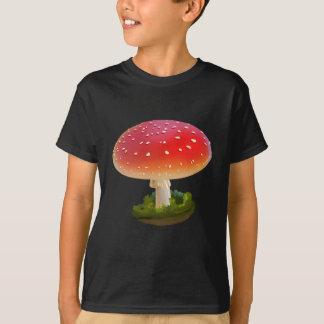Amanita Red Mushroom Art White Dots T-Shirt