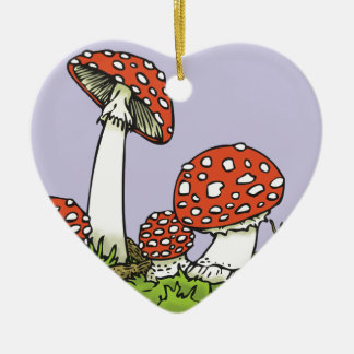 Amanitas Ceramic Heart Decoration