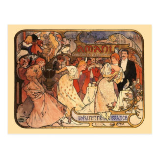 Amants, Alphonse Mucha Postcard
