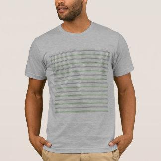 Amara Stripe pistachio Mens Fitted T-Shirt