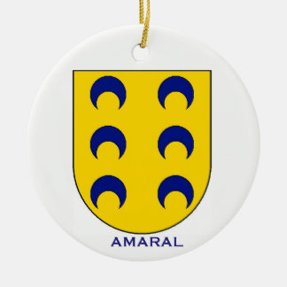 Amaral Family Coat of Arms Christmas Ornament