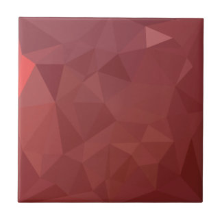 Amaranth Purple Abstract Low Polygon Background Ceramic Tile
