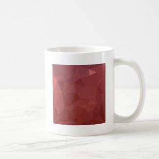 Amaranth Purple Abstract Low Polygon Background Coffee Mug