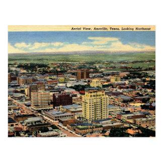 Amarillo, Texas, Aerial View, 1950 Vintage Postcard