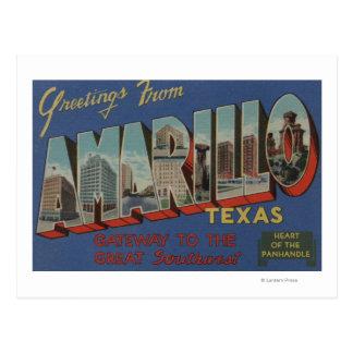 Amarillo, Texas (Heart of the Pan-Handle) Postcard