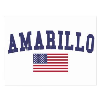 Amarillo US Flag Postcard