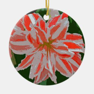 Amaryllis-d Ceramic Ornament