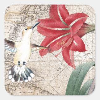 Amaryllis Mao Hummer Square Sticker