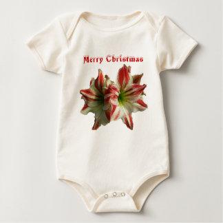 Amaryllis Merry Christmas Infant Bodysuit