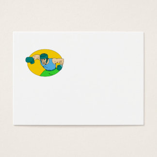 Amateur Boxer Knockout Punch Drawing Business Card
