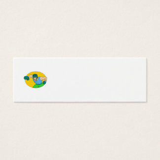 Amateur Boxer Knockout Punch Drawing Mini Business Card