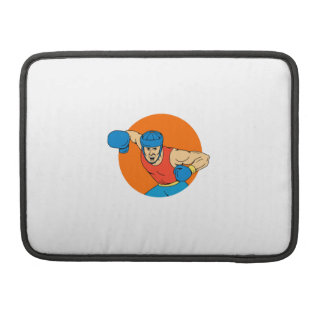 Amateur Boxer Overhead Punch Circle Drawing Sleeve For MacBook Pro