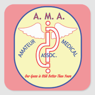 AMATEUR MEDICAL ASSOCIATION SQUARE STICKER