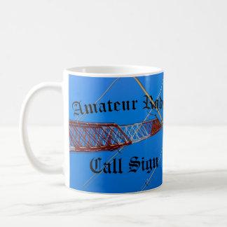 Amateur Radio and Call Sign Blackletter Coffee Mug
