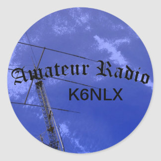 Amateur Radio and Call Sign Classic Round Sticker