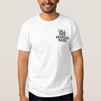 Amateur Radio Call Sign Embroidered T-Shirt