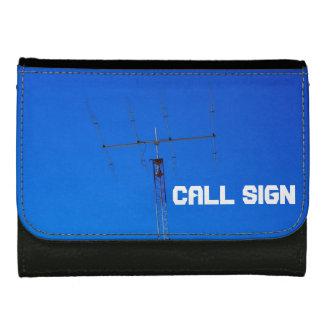 Amateur Radio Callsign 2 Leather Wallet For Women