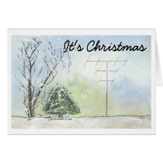 Amateur Radio Christmas Card with Verse