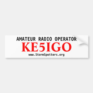 Amateur Radio Operator Bumper Sticker