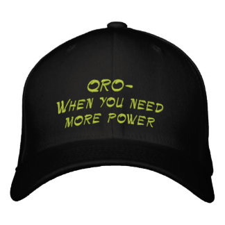 Amateur Radio QRO More Power Hat