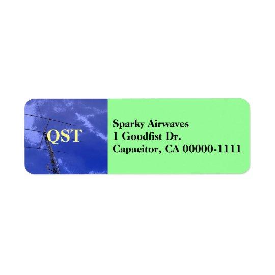 Amateur Radio QST Address Label