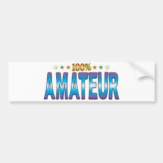 Amateur Star Tag v2 Bumper Stickers