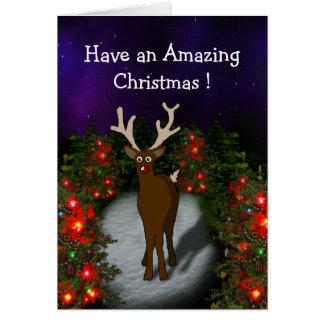 Amazed Christmas Card