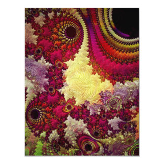 amazing Abstract fractal geometry 11 Cm X 14 Cm Invitation Card