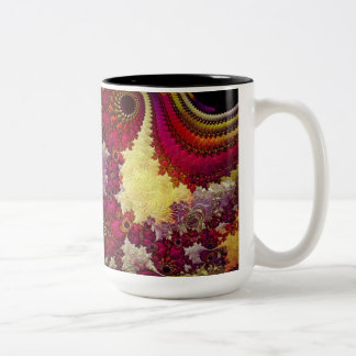 amazing Abstract fractal geometry Two-Tone Mug