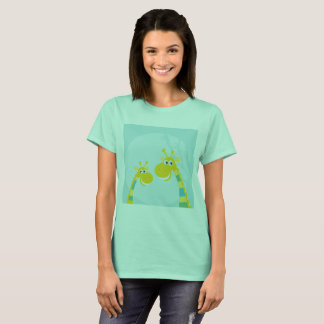 Amazing Africa collection : Tshirt cyan Giraffes