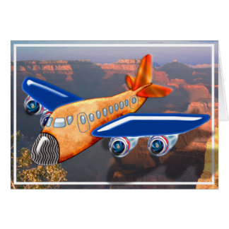 Amazing Airplane Aerial View Card