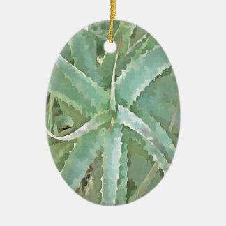 Amazing Aloe Vera Ceramic Ornament