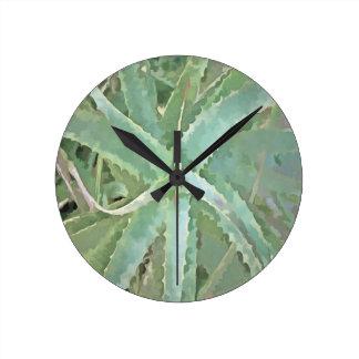 Amazing Aloe Vera Round Clock